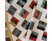Easy - Jelly Brique Road Quilt Pattern - Jelly Roll  pattern - Baby to King Size - PDF INSTANT DOWNLOAD -
