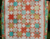 Twinkle Twinkle Nickel Stars EaSy Quilt PaTTerN - Crib or Throw Size uses Charm Squares