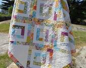 "Quilt Pattern PDF INSTANT DOWNLOAD - Iphigenes Walk Jelly Roll Quilt Pattern 72"" x 72"""