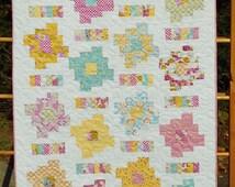 Baby Quilt Pattern - Layer Cake and Honey Bun Friendly - Honey Cakes Baby Quilt Pattern