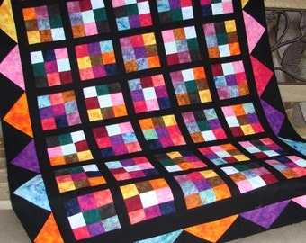 Quilt Pattern - Hot Flash Quilt Pattern - Wallhanging -  Lap or Baby Quilt - QUICK and EASY