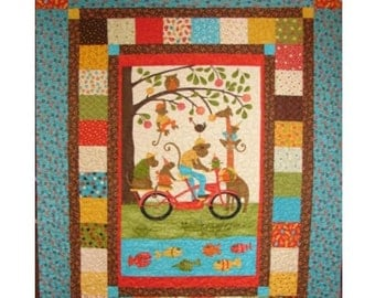 Quilt Patterns  - Simply Charming Panel Pizzazz Quilt Pattern - PDF INSTANT DOWNLOAD - Quick and Easy