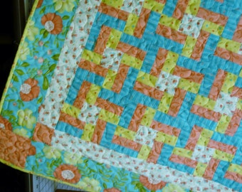 Quilt Pattern - Lovely Little Pinwheels Crib or Throw Quilt Pattern very QUICK and EASY - pdf version also available