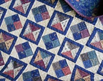 Quilt Pattern  - Diamond Dandy - 5 Sizes   - Charm Squares - Layer Cake  Fat Quarter  - PDF INSTANT DOWNLOAD