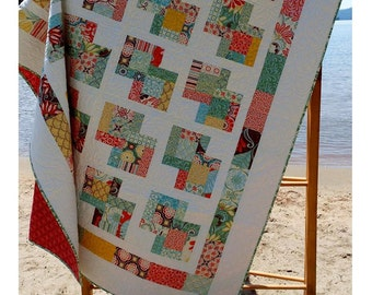 Quilt Pattern: Danish Delights Layer Cake Quilt Pattern 3 Sizes Quick and Easy