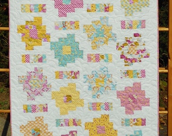 Layer Cake and Honey Bun Friendly - Honey Cakes Baby Quilt Pattern - PDF INSTANT DOWNLOAD