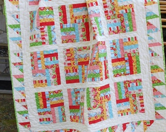 Quilt Pattern Chutes & Ladders - Fat Quarter Friendly Quilt Pattern -  Easy - HARD COPY VERSION