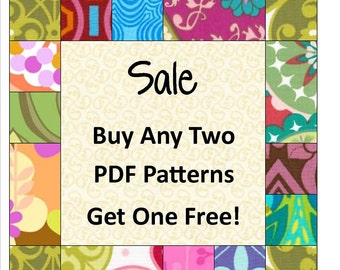 Quilt Pattern PDF SALE - Buy any 2 Little Louise pdf Patterns and get one FREE