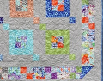 Modern Quilt Pattern PDF INSTANT DOWNLOAD - Fair & Square - Sizes Crib to Queen-  Layer Cake or Jelly Roll -  Easy