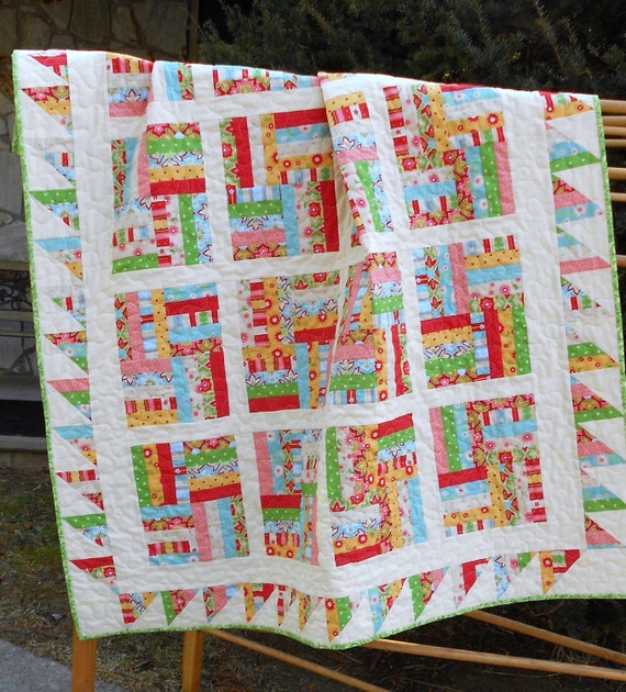 Quilt Pattern PDF INSTANT DOWNLOAD - Fat Quarter Friendly -  Chutes and Ladders - Crib to Queen-King Sizes- Easy