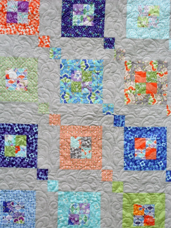 Modern Quilt Patterns Free Download : Modern Quilt Pattern PDF INSTANT DOWNLOAD - Fair & Square - Sizes Crib to Queen- Layer Cake or ...