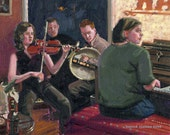 Color Print of Oil Painting, Sunny Pub, Ireland