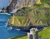 Color Print of Oil Painting, O'Brien's Tower Irish Scene 42, Ireland