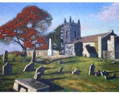 Beautiful Oil Painting of Donaghmoyne Church, County Louth, Ireland