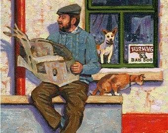 Color Print of Oil Painting, Irish Scene 3, Ireland