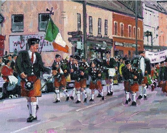 Color Print of Oil Painting, Irish Scene 6, Ireland