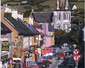 Color Print of Oil Painting, Kenmare Irish Scene 26, Ireland
