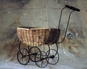 Doll - Antique Woven Carriage