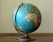 Mid Century World Globe // 1960s Educator