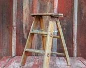 Vintage Step Ladder // Wood Step Stool