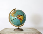 Mid Century World Globe // 1950s World Explorer - 86home