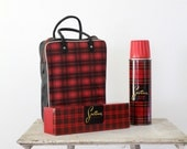 1950s Sportsman Picnic Kit / Vintage Thermos Kit