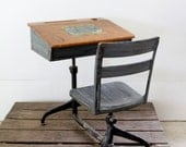 Vintage School Desk // Children's Desk