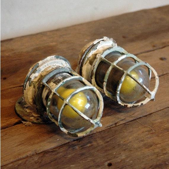 Ahoy - Antique Ship Lights Set of 2