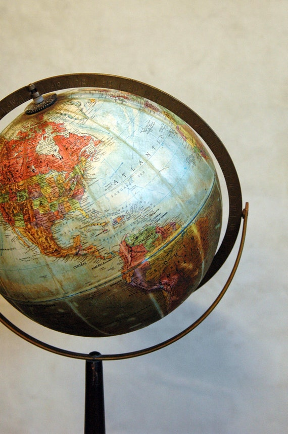 1960s Vintage World Globe // Around the World