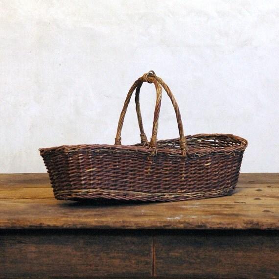 Vintage Basket / Woven Branch