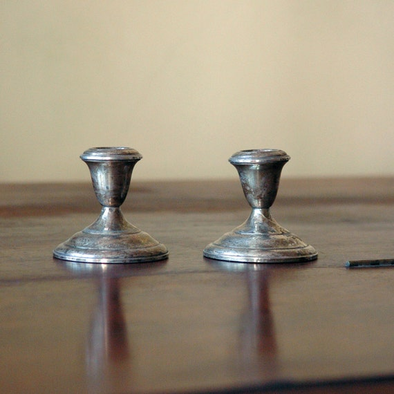 Vintage Sterling Silver Candle Holders // To Dine