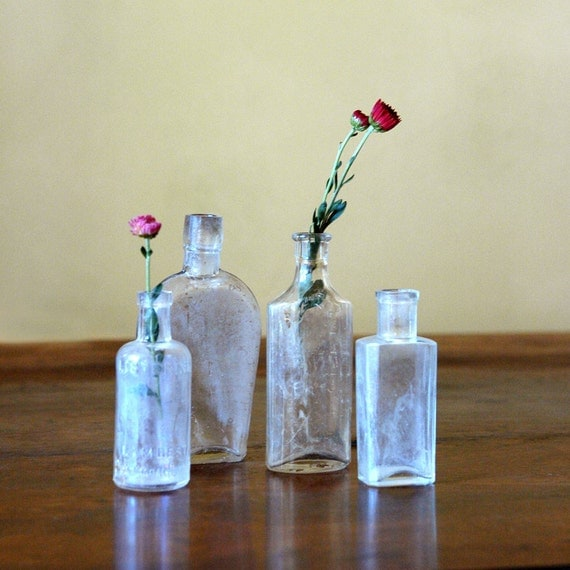 Antique Glass Bottle Collection // The Old Medicine Cabinet