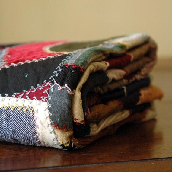 Antique Crazy Quilt // American Patchwork