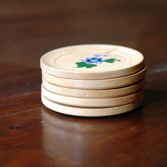 Mid Century Wood Coasters // Fruit Parfait
