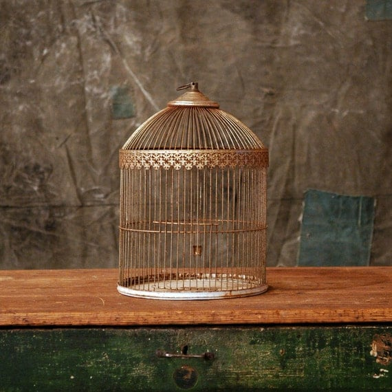 Antique Birdcage // Filigree Birdcage