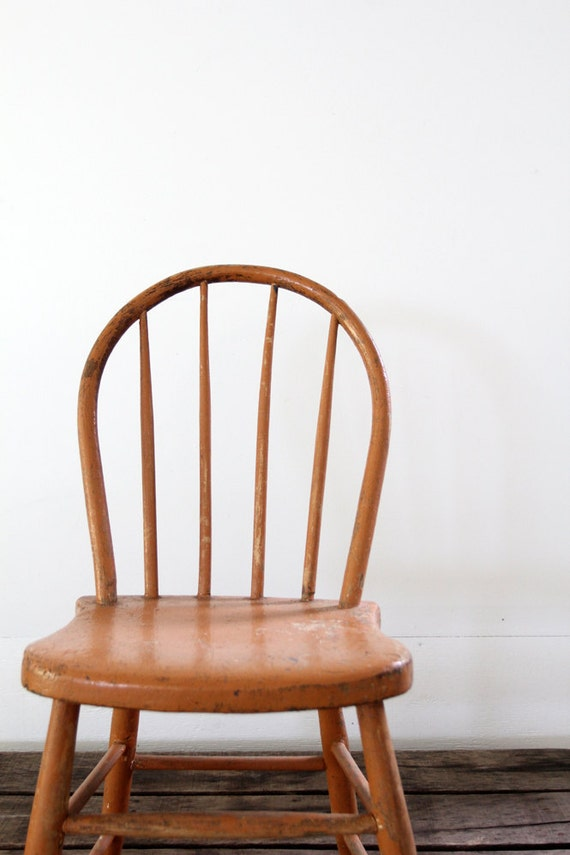 Antique Spindle Chair // Painted Wood Chair