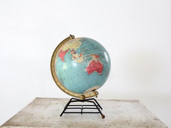 1950s World Globe // Repogle 10 Inch Refernce Globe