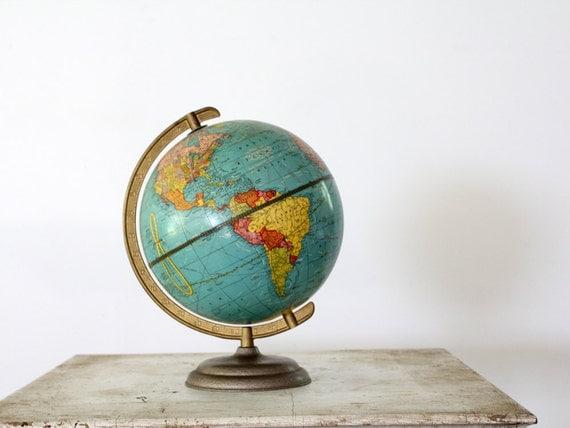 Mid Century World Globe // 1950s World Explorer
