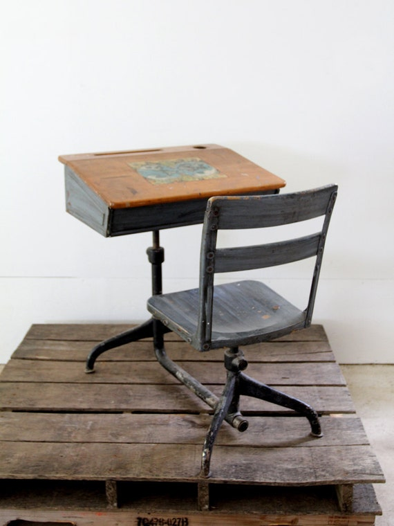 Vintage School Desk // Children's Desk