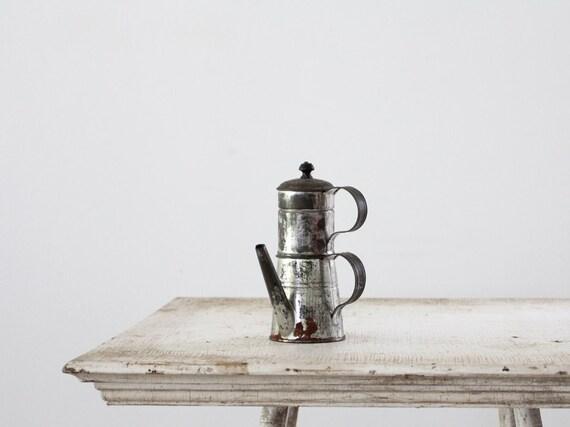 Antique Coffee Percolator // Small Coffee Maker