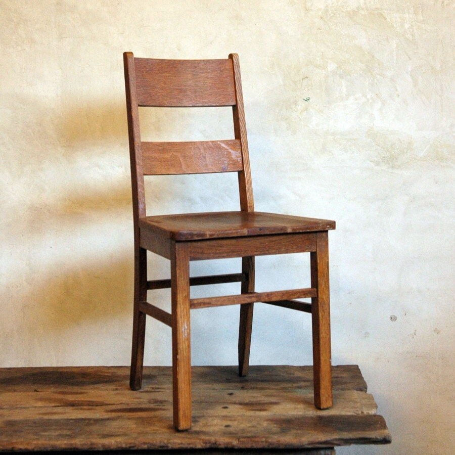 Old Wood Chairs ~ Vintage wood chair lets sit by home on etsy