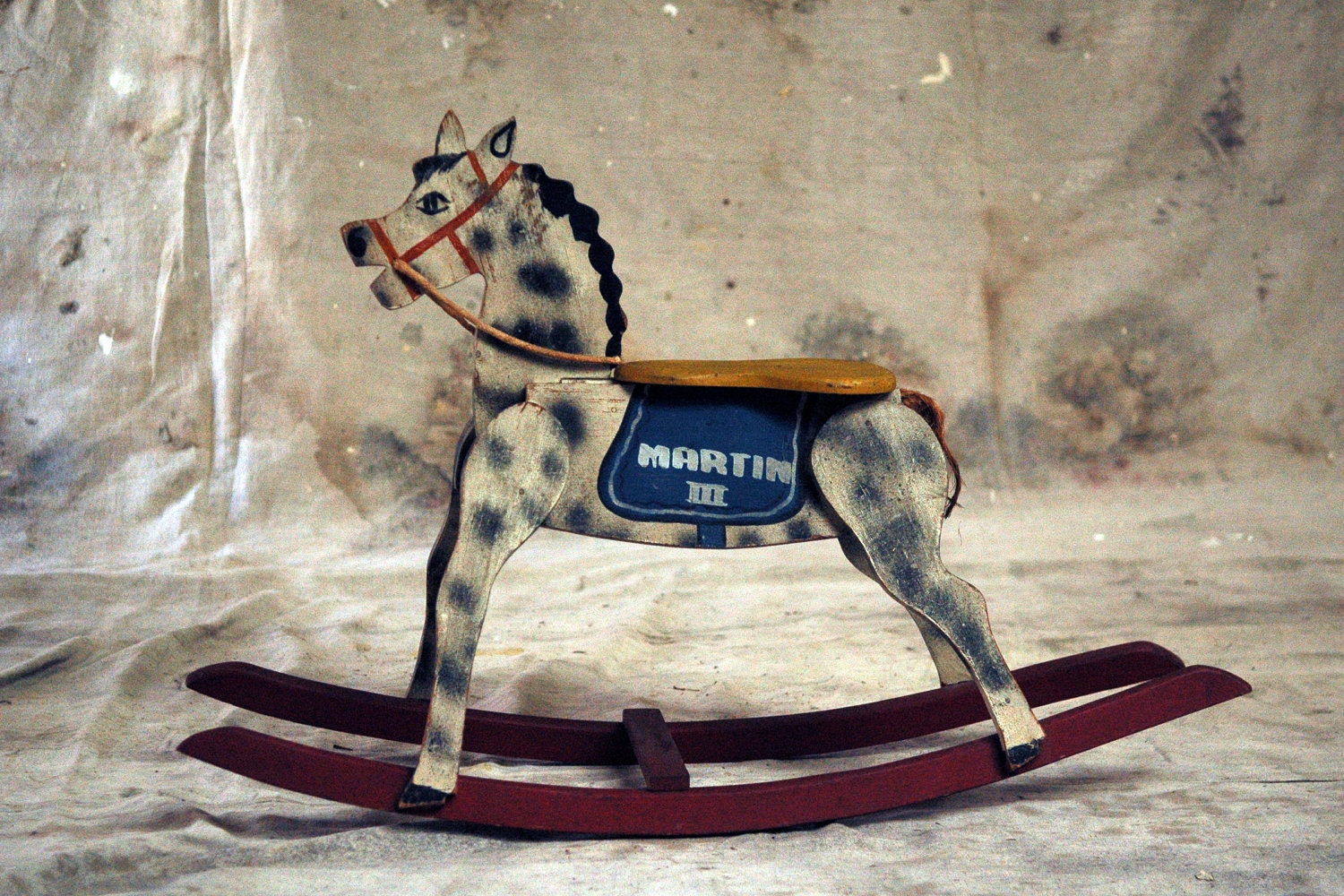 Antique Painted Wood Rocking Horse Martin Iii By 86home