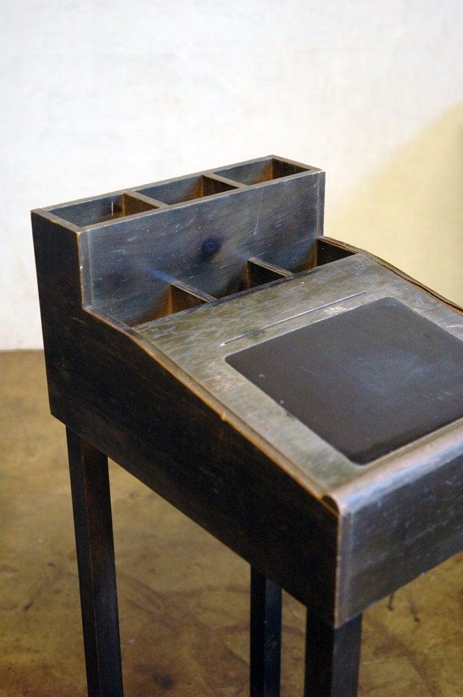 Teachers Stand Mid Century Vintage Wood Podium