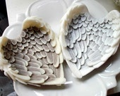 ANGEL WING SOAP, Hearts in Flight Soap Set, Valentine's Day, Custom Scented -You Choose, Vegetable Based, Handmade