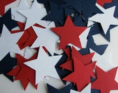 Star Confetti/Embellishments -Red, White and Blue