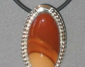 Bruneau Jasper Pendant, Sterling Silver