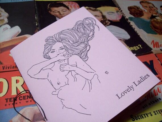 Handmade International Art Book Showcasing Lovely Ladies