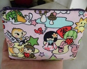 Clearance-Coin purse-Small zipper Japanese anime coin/accessory pouch-Tomadachi grape