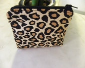 Cute animal print small zipper coin/accessory pouch