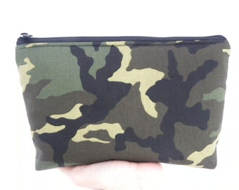 Camouflage Cosmetic bag Large zipper Travel /accessory Bag